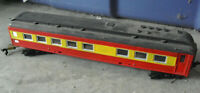 Vintage HO Scale Custom Painted Red Yellow  Passenger Car