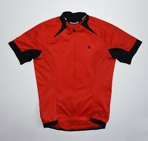 Specialized Jersey Cycling Trikot Shirt Racing Jersey Bike Ride Red Full Zip Men