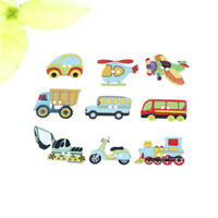 50pcs Wood Mixed Cars And Airplane Sewing Children Buttons Scrapbook Crafts Gw