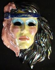 Ceramic Facemask Made in 1992 Signed Woman with headband
