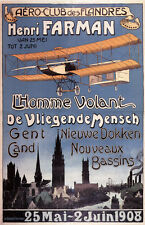 """Reproduction of a Vintage  """"Aero Club Flanders"""" Air Show Poster"""