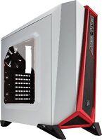 Corsair Carbide Series SPEC-ALPHA Mid-Tower Gaming Case White/Red CC-9011083-WW