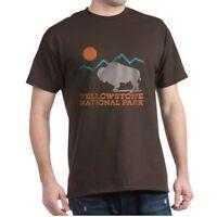 CafePress Yellowstone National Park Dark T Shirt 100% Cotton T-Shirt (572351411)