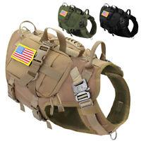 Taktisches Hundegeschirr Militär Hundeausbildung Tragegeschirr MOLLE+3 Taschen