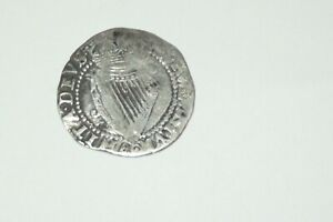 antique EARLY  silver  Irish coin hammered SILVER