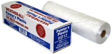HD12 Weatherall Painter's Plastic 0.31 Mil Clear Hi Density Sheeting, 1 Box of 4