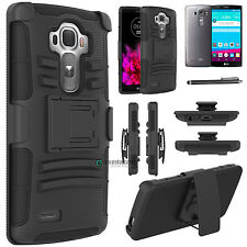 Hybrid Rugged Impact Cover Case Belt Clip Holster Kickstand for LG G4/H815/F500L