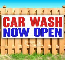 Car Wash Now Open Advertising Vinyl Banner Flag Sign Many Sizes
