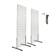 Gridwall Panels 2 X4 With T Leg Stands And 10 Utility Hooks