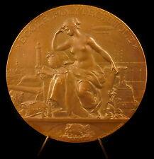 Médaille Allégorie des sciences Ecole Polytechnique sc Max Bourgeois 1894 Medal