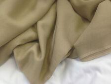 coupon de tissu soie et coton voile  beige clair l 3.00 m ; f mag2