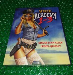 Vice Academy 1-3 Blu-Ray Set w/ Slipcover - Vinegar Syndrome Linnea Quigley OOP