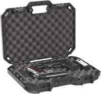 """Double Two Gun Hard Case Storage Padded Lockable Box Handgun Pistol Revolver 18"""""""