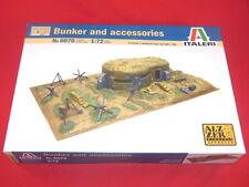Italeri 1/72nd Scale WWII BUNKER & Battle Accessories Model Kit NEW BOX 6070