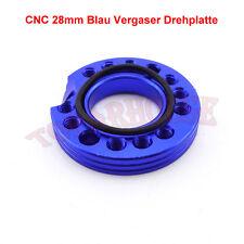 28mm CNC Blau Vergaser Drehplatte Für Pit Dirt Bikes Buggy ATV