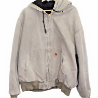 D163 Vintage Carhartt Chore Full Zip Hoodie Jacket Men's Size 2XL