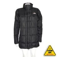 THE NORTH FACE 600 DOWN Women's Parka Jacket Black Quilted Puffer Coat Medium