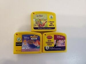 Lot of 3 Leap Frog My First Leap Pad Game Cartridges Disney Princess Tales ABC's