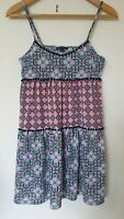 Topshop Vintage Retro Print 60s 70s Baby Doll Short Dress Size 10