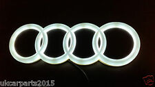 WHITE New HQ AUDI A3 A4 A6 A5 Badge Light Auto Led Emblem 4d shelf Adhesive