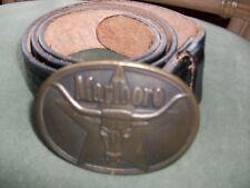 1987 Marlboro Brass Buckle with Leather Belt