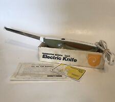 Vintage Hamilton Beach Avocado Electric Slicing Knife With Directions Box 275A