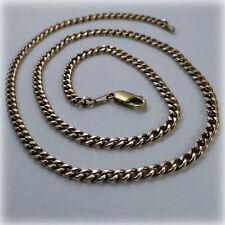 "9ct Yellow Gold 19"" Curb Link Necklet, 1989 hallmark"