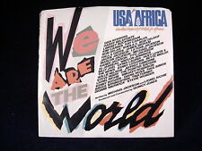 """USA FOR AFRICA """" WE ARE THE WORLD """" 45 rpm RECORD."""