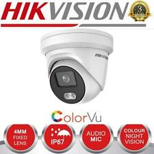 HIKVISION 2K 4MP IP PoE Network Camera 4MM Outdoor IP67 ColorVu Night Mic SD BLC