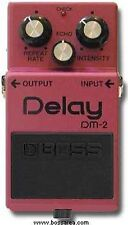 BOSS DM-2 ANALOGUE DELAY GUITAR EFFECTS PEDAL MADE IN JAPAN BLACK LABEL 1983
