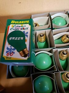 Bulbrite 60 Watt Incandescent A19 Ceramic Green Standard Base