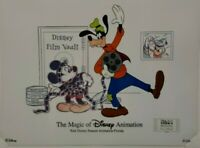 """DISNEY ANIMATION GALLERY CEL """"ITS A WRAP"""" 2000 W/SIGNED CARD"""