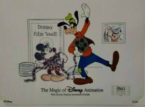 "DISNEY ANIMATION GALLERY CEL ""ITS A WRAP"" 2000 W/SIGNED CARD"
