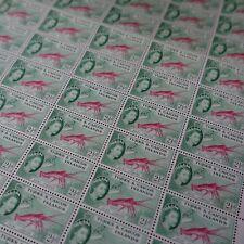 FEUILLE SHEET ÎLES TURKS ET CAIQUES N°166 x60 LANGOUSTE 1957