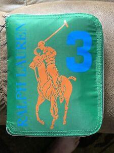 POLO Ralph Lauren Green 3 Expandable Big Horse  Bag NWOT