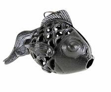 Cast Iron Fish Candle Holder Goldfish Koi Lamp Lantern Hanging votive Black