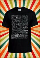 Panic At The Disco Band Lyrics Cool Men Women Vest Tank Top Unisex T Shirt 1875