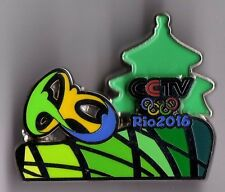 RIO 2016. OLYMPIC GAMES. MEDIA PIN. CCTV. PAGODA