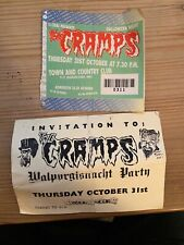 THE CRAMPS  TICKET TOWN AND COUNTRY CLUB 31st Oct 1991 + AFTER PARTY INVITE