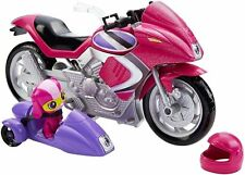 Barbie Spy Squad Secret Agent Pink Motorcycle with detachable sidecar DHF21