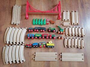 Wooden Train Track Bundle Track + Trains Brio + Other Brands