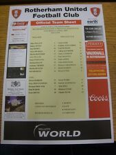 09/04/2005 COLORI teamsheet: Rotherham United V Preston North End [BLACK intestazione