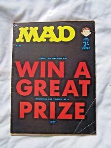 MAD MAGAZINE, # 57, HUMOUR, 1966, ALFRED NEUMAN, UK VERSION, RARE, VINTAGE