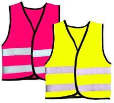 HI VIZ KIDS BOYS GIRLS BABY FLUORESCENT PRINTED OUTDOOR SAFETY VEST WAISTCOAT.