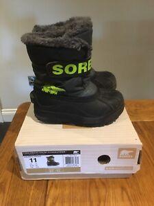 Boys Sorel Snow Boots Size 10 UK
