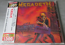 "Megadeth Peace Sells... but who's Buying? il Giappone CD ""Great Rock 1500"" series"" OBI"