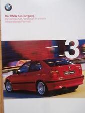 BMW 316i 323ti 318tds E36/5 Compact Prospekt 1/1999 Brochure Catalogue Katalog