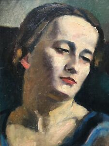 Fine Early 20th Century Portrait of  the Artist's Wife Maurice ASSELIN 1882-1947