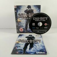 Call of Duty: World at War - PlayStation 3 (PS3) - PAL - Complete - Free P&P