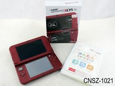Japanese Nintendo New 3DS LL Console Metallic Red XL Import v11.1-5 US Seller
